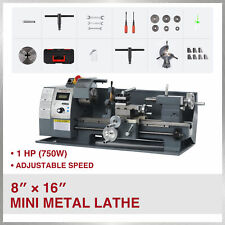 8x16 Benchtop Mini Metal Lathe Cutting Machine For Wood Amp Metal 750w 2250rpm