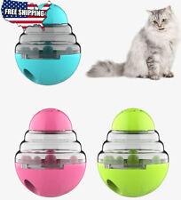 Cat Toys Interactive Tumbler Pet Food Treat Dispenser Feeder Ball Puzzle Bowl