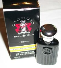 Men's Giorgio Beverly Hills VIP Special Reserve 1/8 oz Extraordinary Cologne ~D2