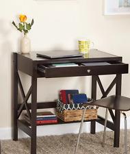 Small Writing Desk Espresso Computer Office Home Dorm Laptop WorkstationTable