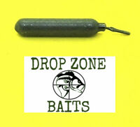 25 Count  3/8 oz Finesse/Cylinder Drop Shot Sinkers / Weights Tournament Quality