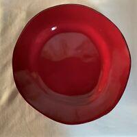 "Pier1  ""Elemental"". Earthenware red dinner plate12"" diameter."