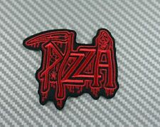 Embroidered Patch Iron Sew Logo PIZZA CHEESE MUSIC ROCK BAND METAL HEAVY PUNK