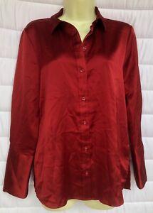 BNWT Marks & Spencer Collection Scarlet Red Shirt  UK 8 EUR 36