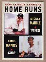 Mickey Mantle & Ernie Banks '58 Home Run MC Leaders Series #5 NM cond