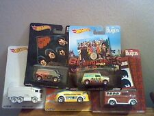 HOT WHEELS 2017 POP CULTURE THE BEATLES SET OF 5 VINTAGE LP RECORD COVERS SHARP!