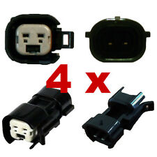4 x Pluggen injectoren adapter - BOSCH EV6 (FEMALE) > NIPPON DENSO (MALE) plug