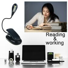 Light LED Rechargeable Flexible Daylight Travel Clip Eye Protection Night Black