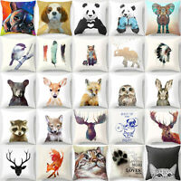 Cute Animal Pillow Cover Throw Pillow Case Sofa Cushion Cover Home Decor 18''