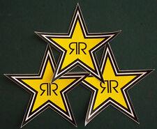 "Rockstar Energy Drink Lot 3 Star Sticker 7"" TEAM RACING NEW FREE FAST SHIPPING"