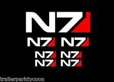 MASS EFFECT N7 7pc sticker set Zombie decal