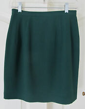 NWOT Green Above Knee Polyester Lined Short Pencil Skirt Women 4