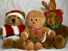 Vintage Dakin TY Beanie Christmas Santa Suit Hat Bear Reindeer Gingerbread Man