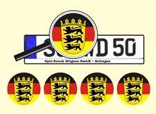 4 x Nummernschild Aufkleber Baden Württemberg Germany AU Ersatz Plakette Flagge