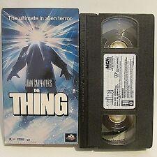 THE THING VHS VIDEO HORROR 1982 JOHN CARPENTER KURT RUSSELL MCA