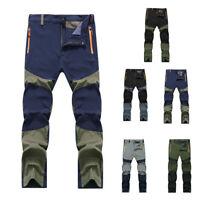 Men Waterproof Tactical Cargo Pants Outdoor Hiking Climbing Trousers Warm