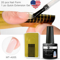 2Pcs/set MTSSII 7ml Nail Poly Building UV Gel Polish Tips Quick Extension Kit US
