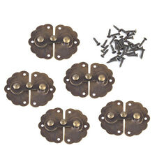 5pcs Antique Brass Jewelry Box Latch Lock Clasp with Screws Wine Wood Case Chest