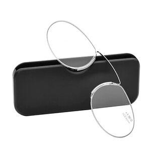 Ultra Thin Reading Glasses Nose Clip Optics Presbyopic +1.0 +1.5 +2.0 +2.5 +3.0