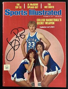 Larry Bird Signed Sports Illustrated Mag 11/28/77 Rookie Cover Auto Celtics JSA