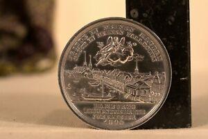 MEDAILLE en ARGENT MASSIF HAMBOURG 1803  Döll & Loos 19th century silver medal