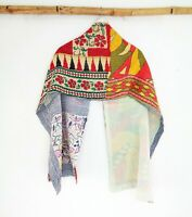 Soft Cotton Kantha  Scarf Head Wrap Stole Hand Quilted Women Shawl Stitched SM47