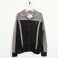 Vintage PUMA Small Logo Zip Up Track Top Jacket Grey Black | Medium M