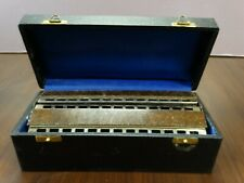 VINTAGE M.HOHNER # 265 CHROMATICA DOUBLE BASS 2 OCTAVE HARMONICA GERMANY