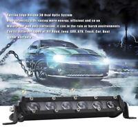 7Inch Spot Beam Slim Led Work Light Bar Single Row Car Suv Off Road Lamps PM