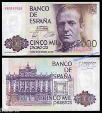 5000 pesetas JUAN CARLOS 1979 Serie 9B  EBC /  SPAIN  Pick 160 Replacement XF