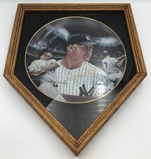 """1987 Mickey Mantle Sports Impressions Gold Edition Collector's Plate 10"""" & Frame"""
