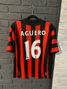 Manchester City 2011/2012 Jersey football Shirt Size M umbro #16 AGUERO