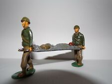 TIMPO METAL G.I. SOLDIER 54MM 1-32 PAINTED AMERICAN WWII INFANTRY STRETCHER TEAM