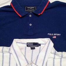 Lot (2) Ralph Lauren Polo Shirts XXL Short Sleeve 100% Cotton Men's 2XL Sport