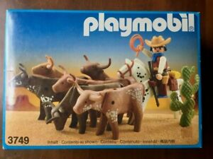 Playmobil 3749 Western Longhorn Trail new in factory sealed box -1988