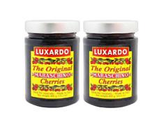 (2 Pack) Luxardo Gourmet Maraschino Cherries, 400g Jar