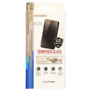 Random Order Tempered Glass Screen Protector for LG X Power - Clear
