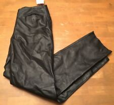 Jammin' Leather Womens 100% Black Leather SZ 12 Motorcycle Biker Hip Pants NWT