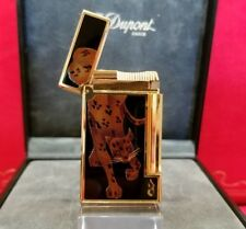 Extremely Rare S.T. Dupont Panther Maki-E Line D Lighter