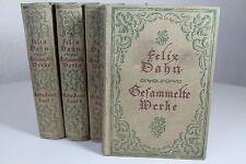 Felix Dahn : Gesammelte Werke - Band 1 bis 5 - um 1910 - Breitkopf und Härtel