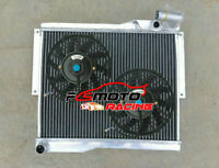 5 ROW Alu Radiator + FAN FOR MG MGB GT Roadster MK4 1.8 Convertible 1977-1980 MT