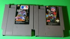 Nintendo NES - Lot of 2 Games - MLB and NFL