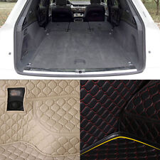 PU Leather Rear Trunk Cargo Liner Protector Mat Seat Back Cover For Audi Q7