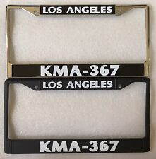 Los Angeles Police Department LAPD KMA 367 License Plate Frames
