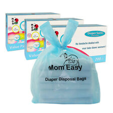 Easy-Tie 600 Counts Baby Disposable Diaper Sacks/Bags Unscented Tie Handle Bags