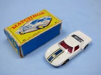 MATCHBOX FORD GT40 RACER ORIGINAL NO 41 COLLECTIBLE TOY CAR MKIII BLUE STRIPE