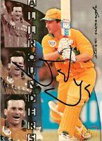 ✺Signed✺ 1996 1997 AUSTRALIA Cricket Card STEVE WAUGH