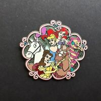 HKDL - Princesses and Horses - Pin #1 Belle Ariel Cinderella Disney Pin 63443