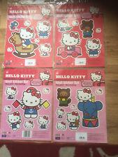 Hello Kitty 4 Set Sticker Kit Ideal Walls Windows Toys Boxes Etc