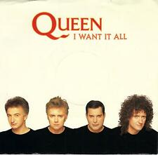 QUEEN  I Want It All / Hang On In There  45 with PicSleeve from 1989